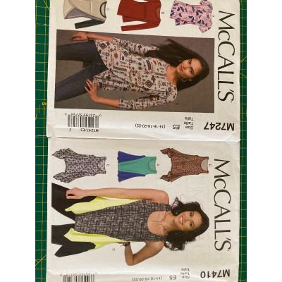 Remnant - 2 x McCall's patterns - M7247 and M7410 - E5 (14-16-18-20-22) - End of Line