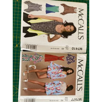 Remnant - 2 x McCall's patterns - M7410 and M7577 - A5 (6-8-10-12-14) - End of Line