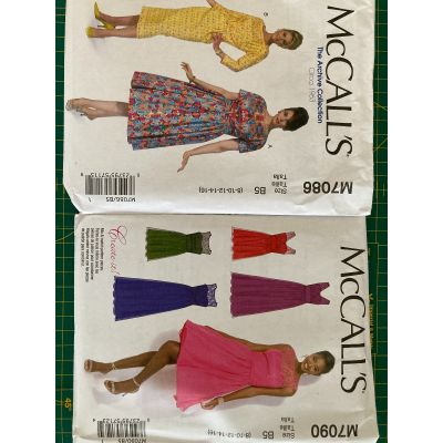 Remnant - 2 x McCall's patterns - M7086 and M7090 - B5 (8-10-12-14-16) - End of Line