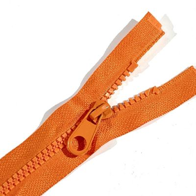 Chunky Open Ended Zip Orange 10 Inches Up to 36 Inches