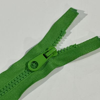 Chunky Open Ended Zip Bright Green 10 Inches Up to 36 Inches
