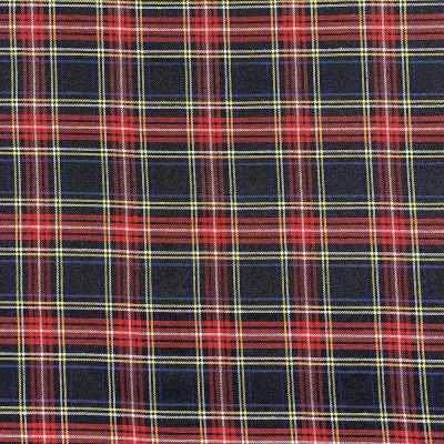Soft Tartan Fabric - Black And Red Tartan