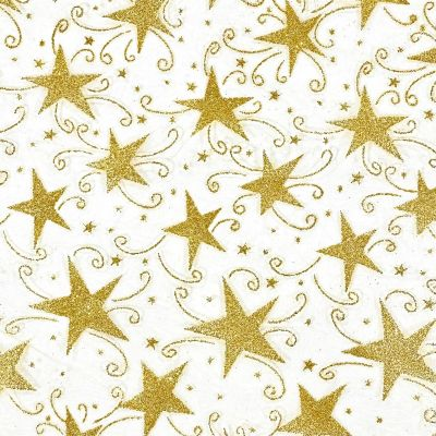 Gold Glitter Stars On Gold Net