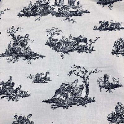 Curtain Fabric - French Country Scenic