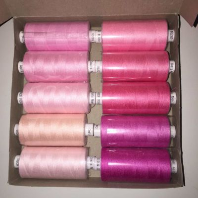 Box of 10 Moon Thread Pinks