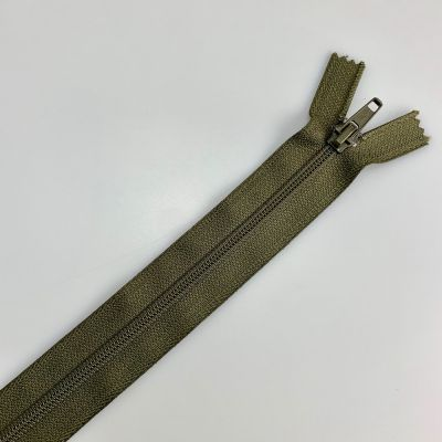 Nylon Open Ended Zip Olive