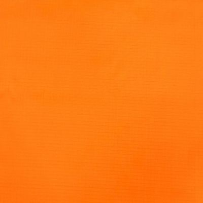 Solid orange nylon ripstop fabric