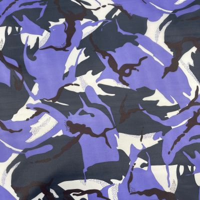 Nylon Ripstop Fabric - Camouflage Jungle