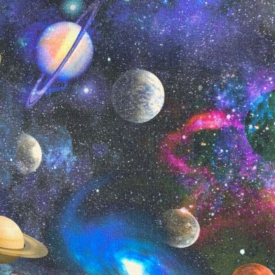 Digital Cotton Print  - Planets