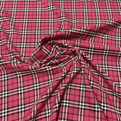 Soft Tartan Fabric - Pink And Black
