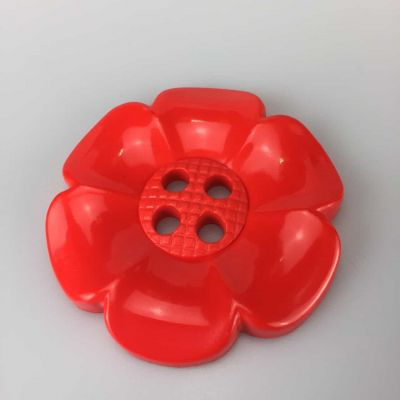 Huge Red Flower Buttons Buttons Size 100 - 63mm
