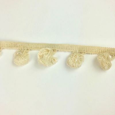 30mm Large Pom Pom Trim - Natural