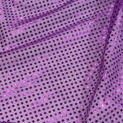 Purple 6mm Sequin Stretch Fabric
