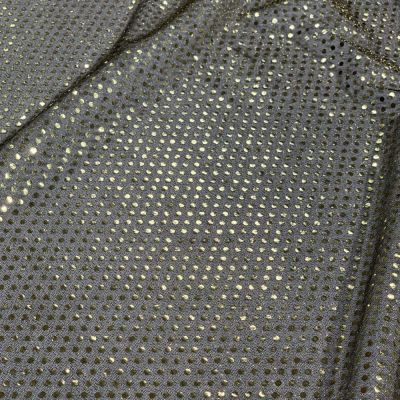 Gold & Black 6mm Sequin Stretch Fabric