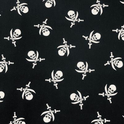 Cotton Fabric - Skulls On Black