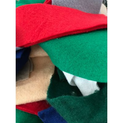 Remnant - Felt Collage/Crafting Pack - Mixed colours - 100g