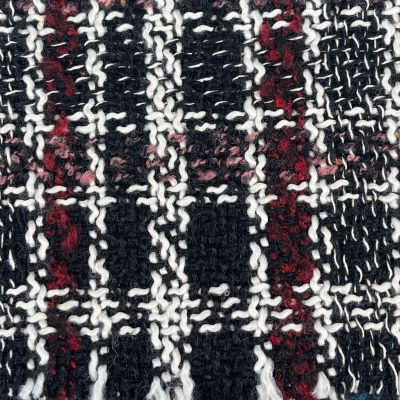 Boucle Textured Woven Coating Arbroath - Red