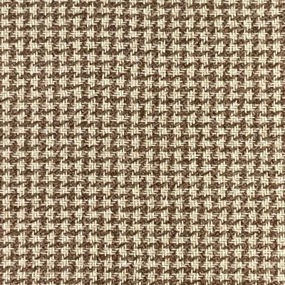 Hound Tooth Wool Blend Coating - Light Brown