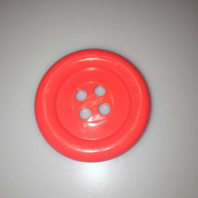 Red Extra Large Clown Buttons Size 80L - 51mm