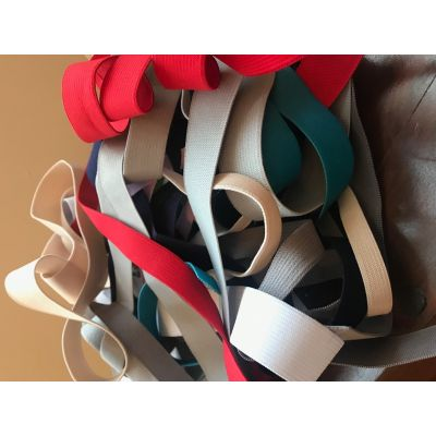 Remnant Mixed Elastic Lucky Dip Bundle - 10m approx