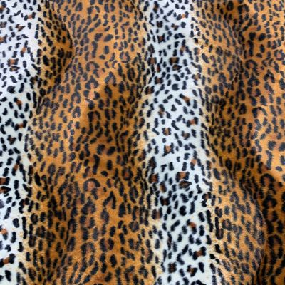 Striped Cheetah Print Velour Animal Print