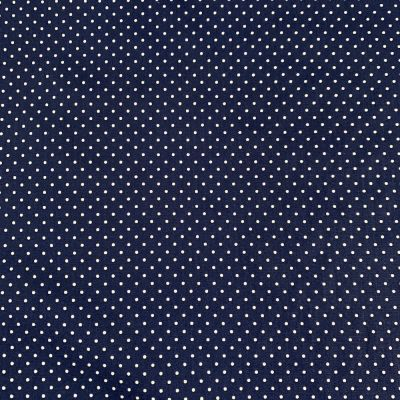 Cotton Fabric - Pinspot Navy