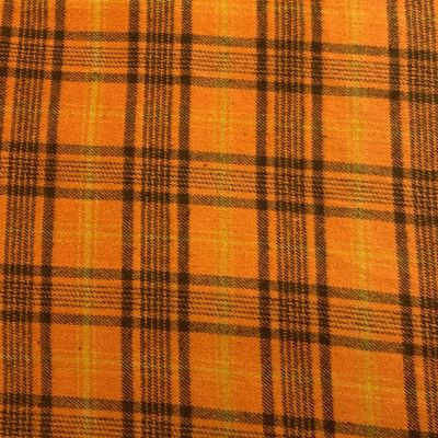 Marcus Fabrics - Orange Plaid Check Flannel Fabric