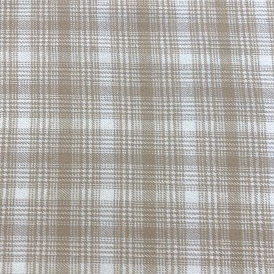 Marcus Fabrics - Beige Plaid Check Flannel Fabric