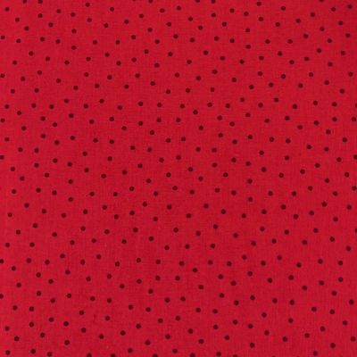Nutex - Extra Wide Fabric - Spots Brown On Red