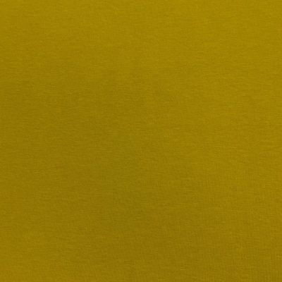 Remnant - Lightweight Cotton Sweatshirt Jersey Fabric - Chartreuse -26 x 150cm - Creased