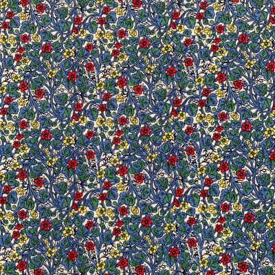 Cotton Lawn - Yellow And Red Small Floral