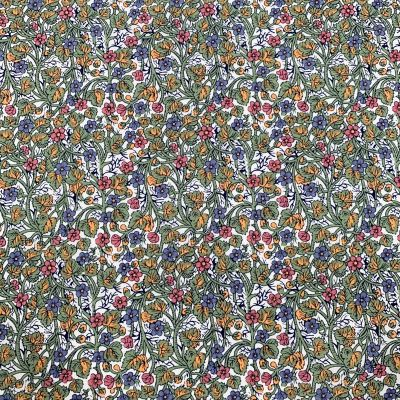 Remnant - Cotton Lawn - Pink And Blue Small Floral - 1m x 145cm