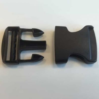 Easy Release Delrin Buckle Black 40mm For Use With Webbing