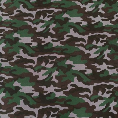 Camouflage Canvas Fabric - Dark Green