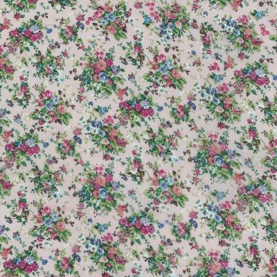 Cotton Lawn - Floral Bouquets On Pale Pink