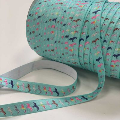 Fold Over Elastic 16mm Wide - Unicorns!
