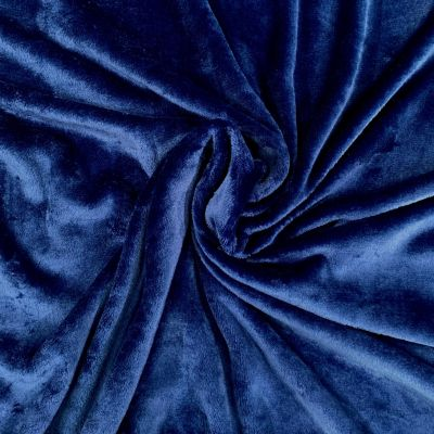 Remnant -Double Sided Cuddle Fleece - Navy - 122 x 150cm - Bolt End