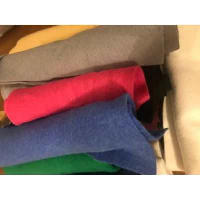Remnant - Wool Felt Strips Bundle: Mixed Colours: Lucky Dip - 1m x 90cm approx