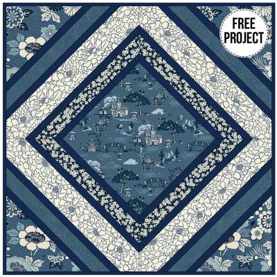 Makower - Indigo - Cushion Pattern - Free Instant Download