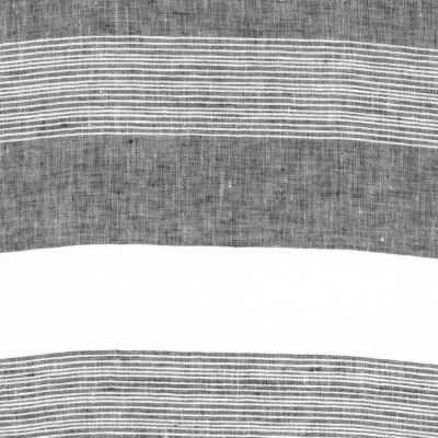 100% Linen Fabric - Stripe - Ink
