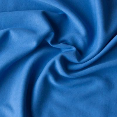 Remnant -Cotton Interlock Jersey - Solid Cobalt - 115 x 160cm - Creased/Roll End
