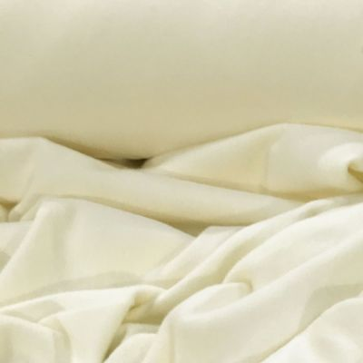 Lightweight Cotton Sweatshirt Jersey Fabric - Ivory