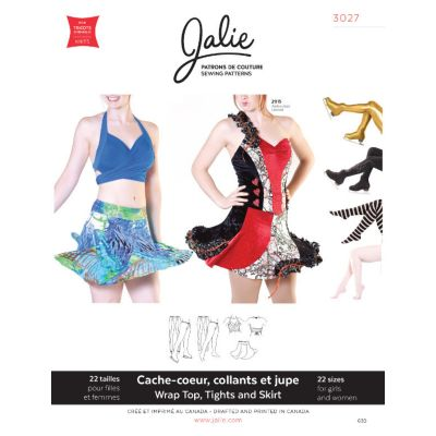 Jalie - Wrap Top Tights And Spiral Skirt Pattern
