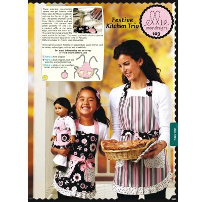 Kwik Sewing Pattern K0103 Festive Kitchen Trio