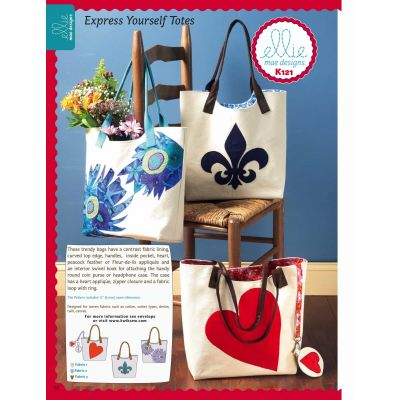 Kwik Sewing Pattern K0121 Bags, Coin Purse and Head Phone Case With Appliqué