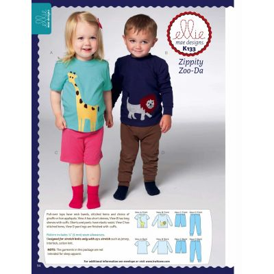 Kwik Sewing Pattern K0133 Toddlers' Top, Shorts and Pants