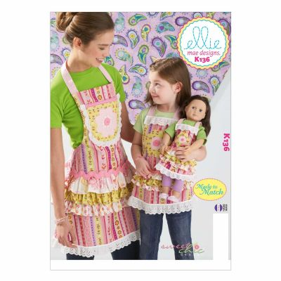 Kwik Sewing Pattern K0136 Misses'/Girls'/Dolls' Aprons