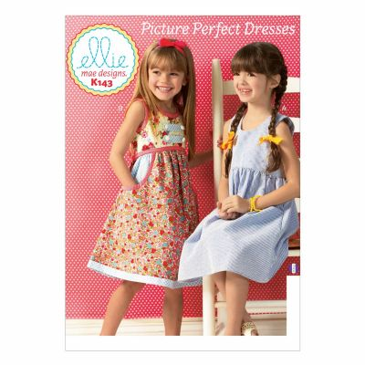 Kwik Sewing Pattern K0143 Girls' Dresses