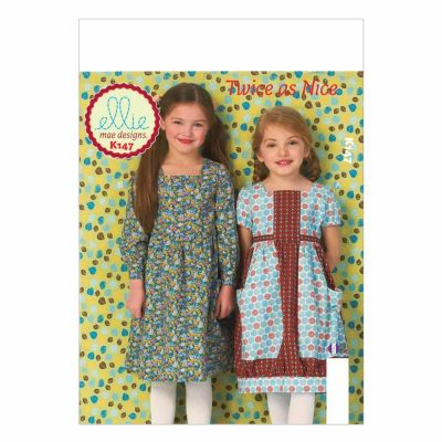 Kwik Sewing Pattern K0147 Girls' Dresses