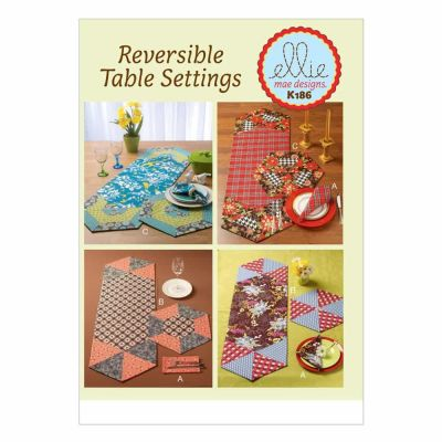 Kwik Sewing Pattern K0186 Napkins, Placemats and Runners
